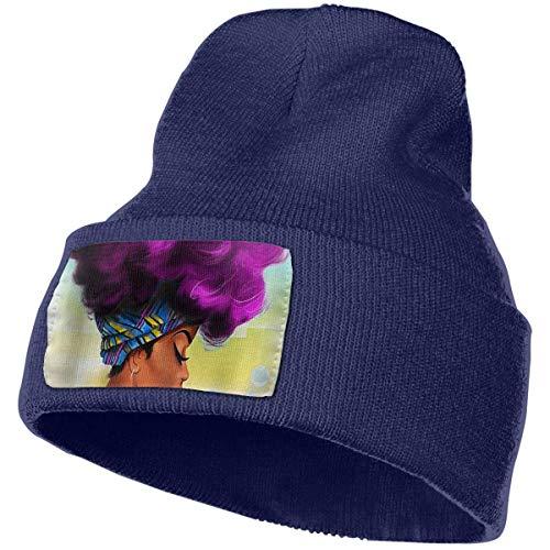 Kostüm Detektiv Frau - Afro Frau Afrika Frauen Unisex Beanie Hut Winter warm Stricken schädel Hut Cap