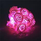 20luci LED a batteria con fiori rosa decorazione Natale Feste, Matrimonio, Giardino Luci Rosa