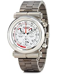 Formex 4 Speed TS375 - Reloj cronógrafo de caballero de cuarzo con correa de acero inoxidable plateada (cronómetro) - sumergible a 100 metros