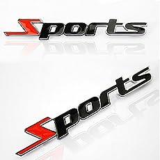 Sluggish Sports Sticker Black 3D Chrome Badge Logo Sticker for Car & Bike