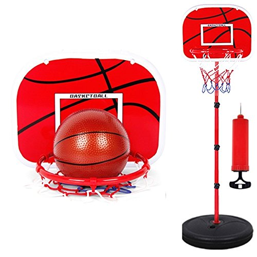 Fusine™ Kids Sports Outdoor Indoor Toy Adjustable Basketball Back Board Hoop Toys Games Set - Mini Portable Adjustable Basketball Hoop Set with Height Range 1.5ft - 5.5ft