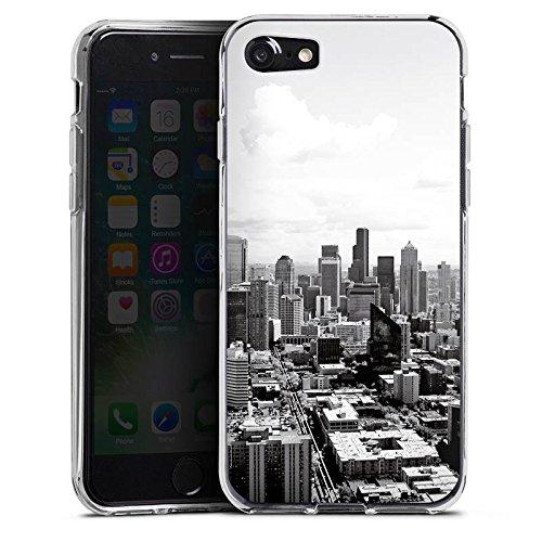 Apple iPhone 7 Silikon Hülle Case Schutzhülle City Stadt Skyline Silikon Case transparent