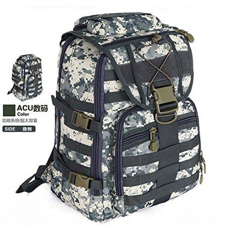 GOUQIN Outdoor Rucksack Klassische Mode Outdoor Sport Rucksack Mit Zwei Umhängetaschen Klettern Taschen Acu
