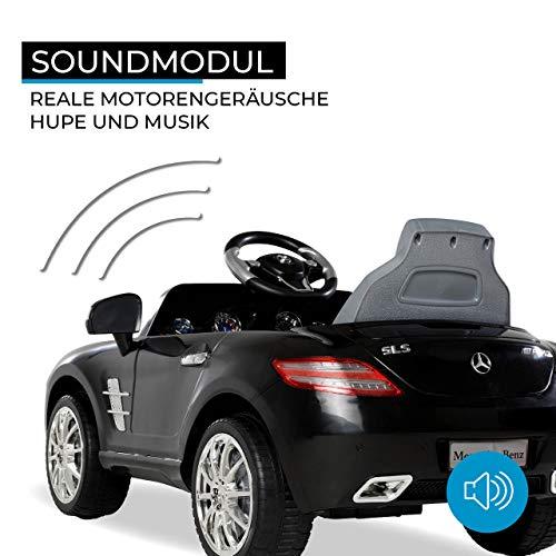 RC Auto kaufen Kinderauto Bild 6: Kinder Elektroauto Mercedes Lizenziert SLS AMG Original Lizenz Kinderauto Kinderfahrzeug Elektro Spielzeug für Kinder (Schwarz)*