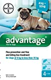 Advantage Flea Control – 100 Medium Dogs 4-10kg – 4 Pipettes