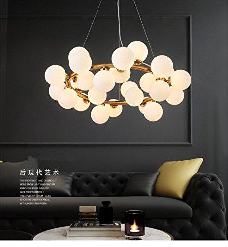 Magic Bean moderne LED-Anhänger Kronleuchter Beleuchtung für Wohnzimmer Esszimmer G4 Gold/Schwarz Weiß Kronleuchter Lampe Lampen, Gold (Finish Kristall-kronleuchter Gold)