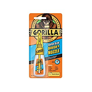 GORILLA GLUE 4044501 12 g 2-in-1 Brush and Nozzle Superglue - Clear