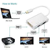 Zamp E Commerce 3 In 1 Gold Plated Mini DisplayPort Thunderbolt To HDMI/DVI/VGA Display Port Cable For Apple Mac Book Mac Pro Mac Air Mac Mini