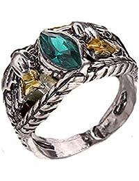 rgrn–Anillo Aragorn El Señor de los anillos con piedra Verde- Idea regalo para hombre