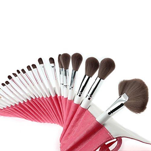 Abody 32Pcs Kit de Pinceaux Maquillages Professionnels Brosses Cosmétiques Fibre Superfine Brosses de Maquillage Manche Bois + Sac PU
