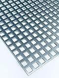 Lochblech Verzinkt QG10-15 Stahl Verzink 2,0 mm dick Zuschnitt individuell auf Maß NEU günstig (1000 mm x 350 mm)