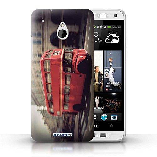 Kobalt® Imprimé Etui / Coque pour HTC One/1 Mini / Tower Bridge conception / Série Londres Angleterre Rouge Bus