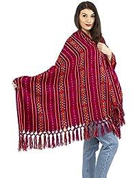 Rebozo - Bufanda de primavera, diseño azteca, suave