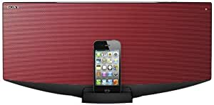 Sony CMTV 75BTIP R - All-In-One Audio System with Dock for iPhone, iPod and iPad - Red