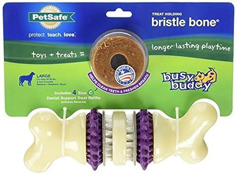 PetSafe Busy Buddy Bristle Bone Treat halten Spielzeug mit Dental Formel (Petsafe Refill)