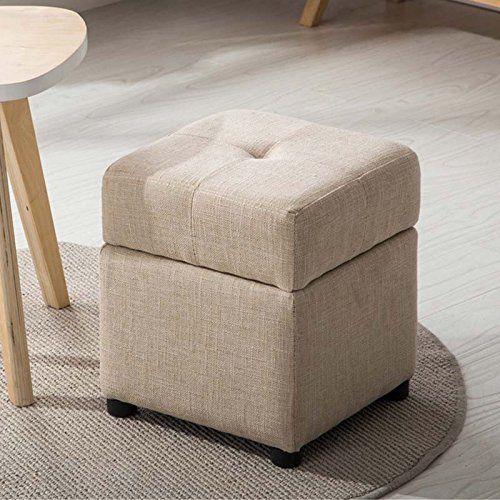 Duo  Computer Tisch Modernes minimalistisches Gewebe mit faltbarem Speicher-Sofa-Hocker Ändern Sie den Schemel, zum des Hocker-Bank-Sofashocker zu tragen (Farbe wahlweise freigestellt) dauerhaft -