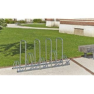 Mottez b129ar Fahrradständer für 5Fahrräder auf 2Etagen mit Überrollbügel