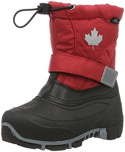 Canadians Allwetterstiefel, Bottes mi-hauteur avec doublure chaude mixteGarcon- Rouge - Rot (500 Red), 31 EU