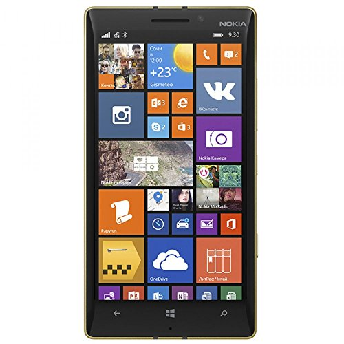 Microsoft Lumia 930 Smartphone (5 Zoll (12,7 cm) Touch-Display, 32 GB Speicher, Windows 8.1) Schwarz Gold 3G only - Special Edition