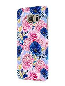 Cover Affair Floral / Flowers Printed Designer Slim Light Weight Back Cover Case for Samsung Galaxy Note 5 (Blue & Pink)