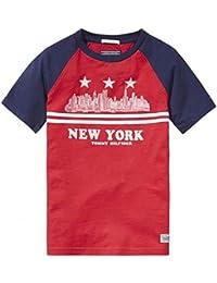 Tommy Hilfiger Red Skyline T Shirt