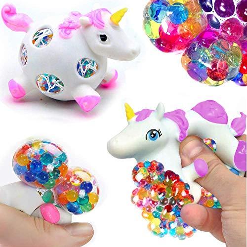 German Trendseller® - 3 x Ultra Squishy - Einhorn - Regenbogen Quetschball ┃ Mitgebsel ┃ Kindergeburtstag ┃ Stress - Bubble Unicorn Ball┃ 3 Einhörner