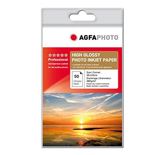 AgfaPhoto Photo Papier, 10 x 15 cm, 260 gram, 50 Blatt