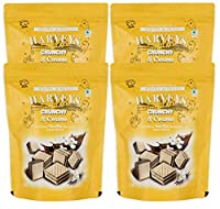 Harveys Crunchy & Creame Gourmet Delicacies Cream Wafer Biscuit 110 g Pouch Pack - Vanilla Flavoured (Pack of 4)
