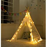 Decestar Teepee Tent Lights Kids Play Tent Lights Christmas Decoration Light for Kids Play House