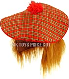 Homme Sylvestre écossais Tartan Chapeau de Tam et gingembre Cheveux Perruque enterrement Déguisement Chapeau 2-Pack 1