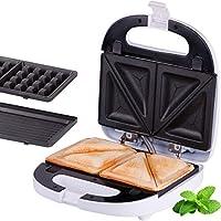 TZS First Austria - 3 in 1 Sandwichmaker Waffeleisen Tischgrill,Klick-System, Thermostat, Backampel, elektrischer Sandwichtoaster, 700 Watt, Kontaktgrill | abnehmbare Platten