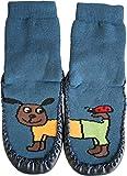 normani Hüttenschuh Söckchen mit lustigen Tiermotiven, echte Rindsledersohle   5 Motive zur Auswahl Farbe Hund Größe 24-25 - 1 Paar