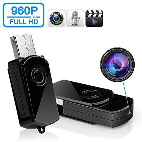 Camera Espion USB Caméra cachée Funshare Mini Espion U-DISK Portable HD DVR USB Flash Drive Caméra cachée caméra vidéo enregistreur (pas de carte