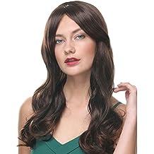 6cbf9b2af84c Parrucche lunghe per le donne Ombre larghe 22 pollici Ombre parrucca in  fibra sintetica nera e