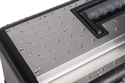 Werkzeugkoffer Set aus zwei Edelstahlkoffern – PROFI 18 + PROFI 23 – mit robustem Kunststoff-Rahmen, Stoßschutz an den Kanten, herausnehmbaren Werkzeugträger und Ablängvorrichtung, mit abschließbaren Metallverschlüssen - 5