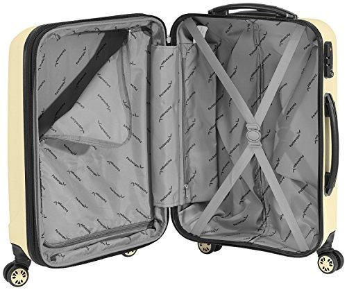 Packenger Kofferset - Velvet - 3-teilig (M, L & XL), Cafe-au-Lait, 4 Rollen, Koffer mit TSA- Schloss und Erweiterungsfach, Hartschalenkoffer (ABS) - 10