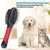 Fellbürste Katzenbürste Hundebürste Zwei funktionale Bürstenseiten Haustierbürste mit Drahtstiften Borsten für Verfilzungen Knoten und Unterfell, Kurz bis Langhaar(L) - 7