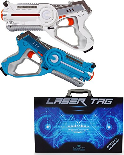 DYNASTY LASER TAG set di Laser Tag per bambini, battle pack (2 blaster)