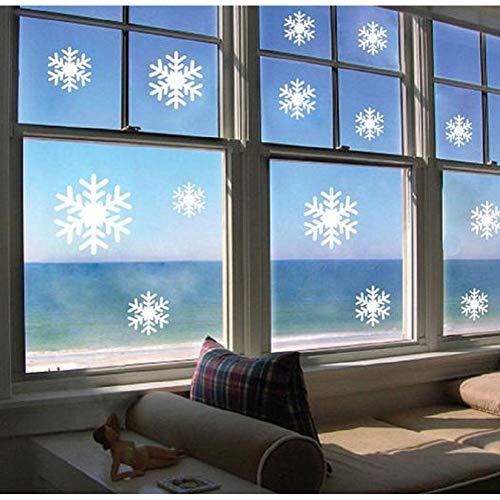 KIHUI Marry Christmas White und Blue Snow Bild Wandaufkleber für Festival Dekoration auf dem Glasfenster Aufkleber wasserdicht (Snow White Bilderrahmen)