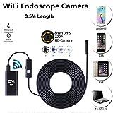 Wifi borescope 2.0 megapixels 6 LED beleuchtet 8mm HD 720P rohr wasserdichte inspektion schlange kamera für smartphone Airbook Windows-Serie 3.5 Meter