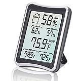 Feuchtigkeitsmessgerät, Hygrometer, Temperatur-Feuchtigkeitsmessgerät LCD-Innen-Digital-Zimmerthermometer mit Min-Max Aufzeichnungen, °C/°F-Schalter, genaue Messwerte für das Hause
