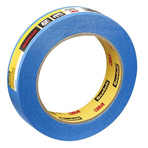 Scotch Super Malerabdeckband, 24 mm x 50 m, Profi-Plus Qualität, blau, PT209024 (Lackiert Glas Wand)