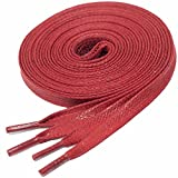 LACCICO® Rot Flach 6 mm 'Cerato' Gewachste Schnürsenkel, Farbe:Rot;Länge:150 cm