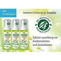 Plantacos Insekten-Schutzspray Sensitiv - 3er Vorteilspack - Mit pflanzlichem Wirkstoff - Schützt zuverlässig... preisvergleich bei billige-tabletten.eu