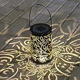 Hängende Solar laterne Gartenlaterne, Weeygo LED Solar Laterne für außen Wasserdichte Hängeleuchte Warmes weißes Nachtlicht für Patio-Hof-Garten