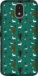 The Racoon Lean TREES AND DEER hard plastic printed back case / cover for HTC Desire 526G Plus