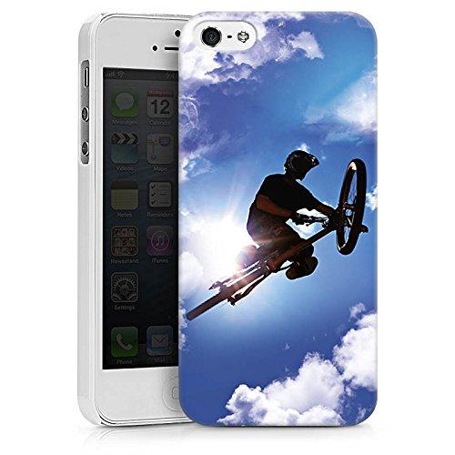 Apple iPhone X Silikon Hülle Case Schutzhülle Mountainbike Fahrrad Sport Hard Case weiß