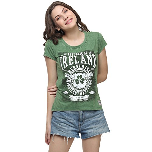 Irish Connexxion Grün, Republic, of, Ireland, Celtic, Nations, Established, Nineteen, Twenty, Two, Damen-T-Shirt