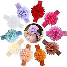 Itaar Fasce Capelli Bimba Elastiche Colorate Regali per Neonate Bambine Fai da Te - fiori e regali