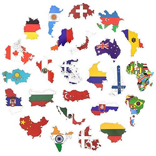 Inveroo 50 Länder National Flag Sticker Toys Für Kinder Fußball Fans Decal Sticker Scrapbooking Fall Laptop-Sticker
